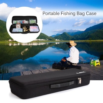 Harga Portable Fishing Bag Case EVA Shockproof Fishing Rod and Reel Carry Bag Fishing Pole Storage Bag Case Fishing Hunting Tackle Tool Gear Organizer - intl