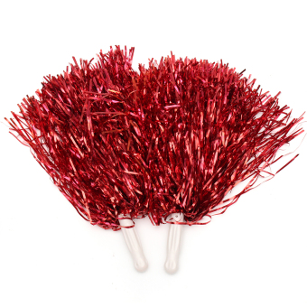 Harga 1Pair Cheerleader Dance Party Sports Cheer Pom Poms Cheerleading Xmas Decor New Red (Intl)