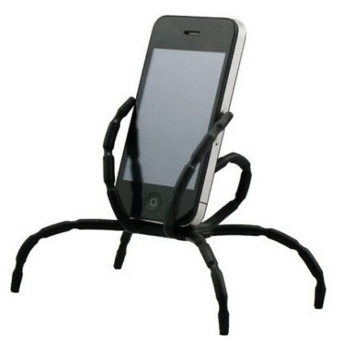 Harga 8 Leg Cell Phone Spider Holders Bicycle Mobile Phone Support - intl