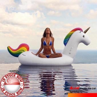 Harga 1000+ sold ■ FREE Portable Pump ■ UNICORN 275cm (front to end) x 140cm x 120cm Giant Inflatable Float + FREE Portable 30cm Hammer Hand Pump_ swim float