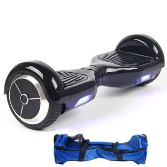 Harga Two Wheel 6 INCHES Smart Balancing wheel - Electric Scooter HOVERBOARD - Smart Scooter WITH SAFETY MARK ADAPTOR (BLACK)