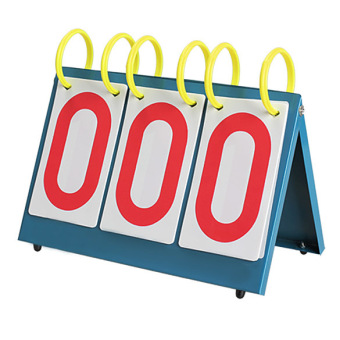 Multi-Purpose Sports Three Digit Flip Scoreboard for Knowge Contest