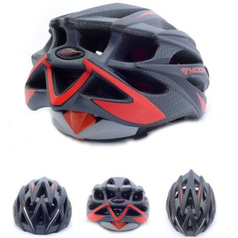 Harga GETEK MOON MV29 Adult Bicycle Outdoor Cycling Helmet with Snap-on Visor Use Road Mountain Size L (Red+Black) - intl