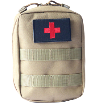 Harga New Airsoft Molle Tactical Medical Military First Aid Sling Pouch Tan- Intl