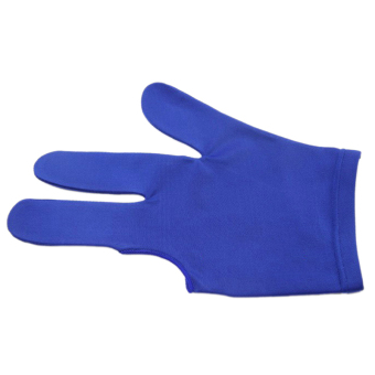 Snooker Pool Billiard Glove Cue Shooter 3 Fingers Glove for Left Right Handed Blue - intl