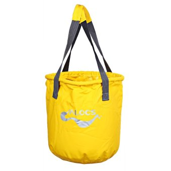 ALOCS AC - Z02 Outdoor Portable Folding Bucket Water Storage Holder for Fishing Camping - 11L (Yellow)