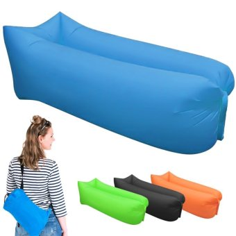 Saomai Fast Inflatable Camping Sofa banana Sleeping Bag Hangout Nylon lazy lay laybag Air Bed chair Couch Lounger - intl