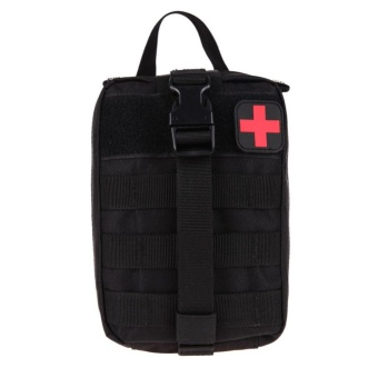 Harga Durable Medical First Aid Cover Outdoor Emergency Package Travel Kit Bag(Black) - intl