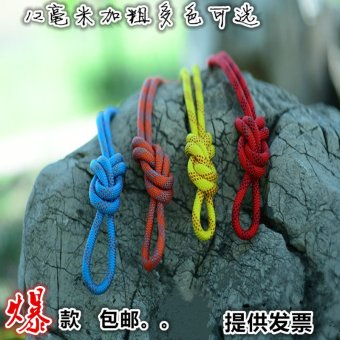 Harga Bold 12mm climbing rope static rope climbing rope outdoor wear rappelling rope safety rope escape rope fire rescue