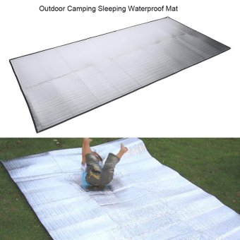 Foldable Outdoor Camping Sleeping Mattress Pad Moistureproof Aluminum Foil EVA Mat (1 x 2m) - intl