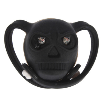 Skull Head LED Bike Bicycle Rear Tail Flash Light Lamp Safety Silicone Red