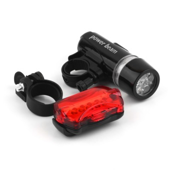Good 5 Water Resistant LED Bike Bicycle Head Light Rear Safety Flashlight Bracket(Export)