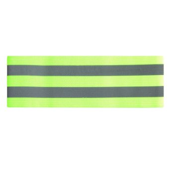 Harga Outdoor Sports Night Running Bike Safety Reflective Arm Band Belt Strap(Green) - intl