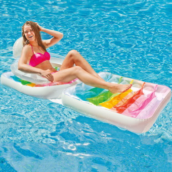 Intex Water Inflatable swimming ring Floating Bed floating row