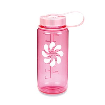 Nalgene Wide Mouth Water Bottle 16oz (Pink with Pink Cap)