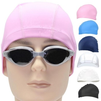 New Fashion Unisex Adult PU Swim Swimming Hat Cap One Size Fit All - intl