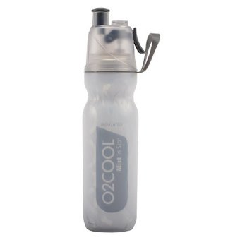 O2COOL 18oz Grey Insulated ArcticSqueeze(R) Mist 'N Sip(R)