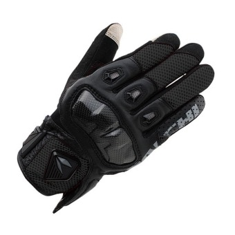 TAICHI RST411 Leather Motorcycle Gloves Black