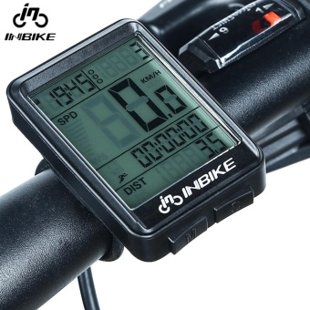 Wireless LCD waterproof Cycle Bike Bicycle Computer Odometer Speedometer with Touch and Backlight - intl