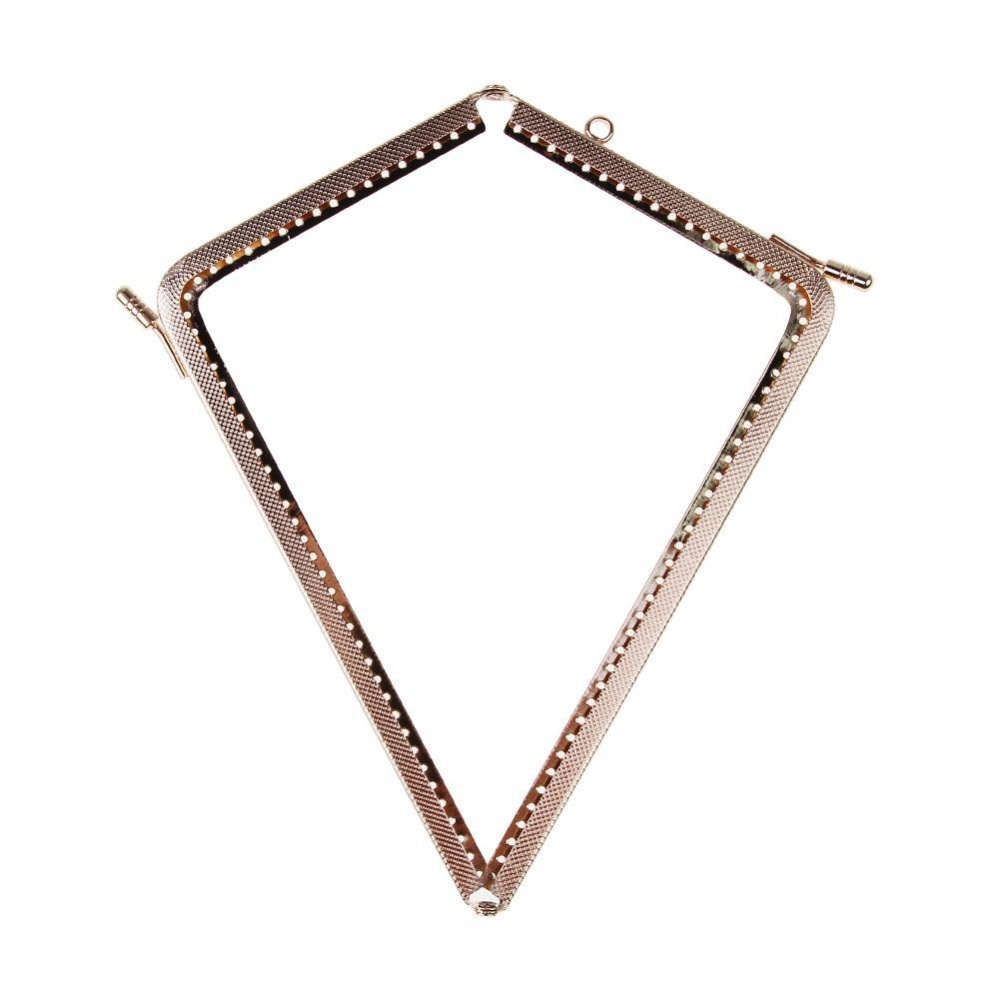 18.5cm L-shaped Purse Frame Clutch Bag Clasp with Handle DIY Accessories - intl