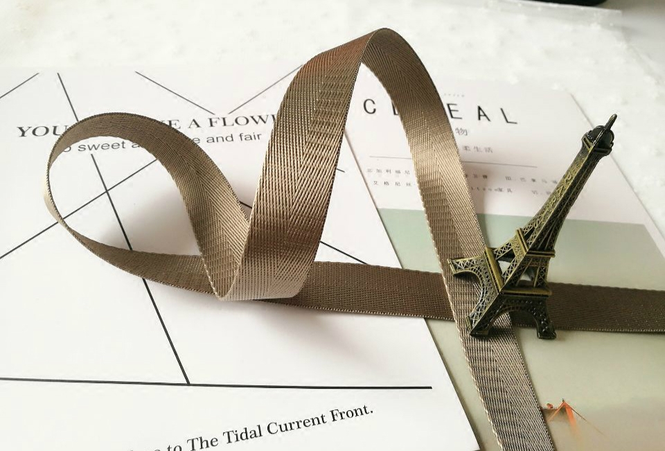 2-5cm imitation tied packing nylon woven with a backpack (No. 15khaki color 2CM width * 45 m 1.3mm) (No. 15 khaki color 2CM width *45 m 1.3mm)