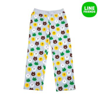 Harga 2016 S/S WOMENS 100% COTTON KNIT PANTS_PAJAMA_FRIENDS_LGR(S)