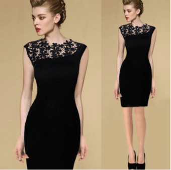 2016 Summer fishion slim lace elegant evening dress Dress women