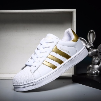 Harga 2017 Classic Inspired addidas Superstar Sneakers Canvas Shoes -intl