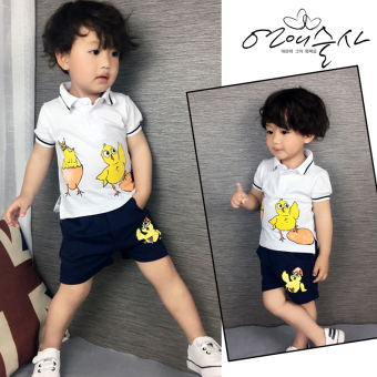 2017 New style baby summer models children's clothing cottonshort-sleeved t-shirt children suit two-piece sets for men andwomen in small children's clothing
