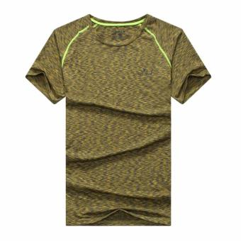2017 summer outdoor short-sleeved quick-drying T-shirt men's sportsrunning fitness clothing Short sleeve quick-drying T-shirt(Ephedra)