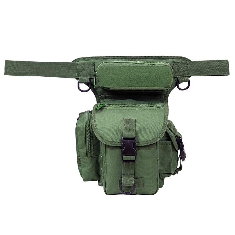 A hundred, animal husbandry, forest multi-function waterproof waist fishing leg bag (Army green) (Army green)