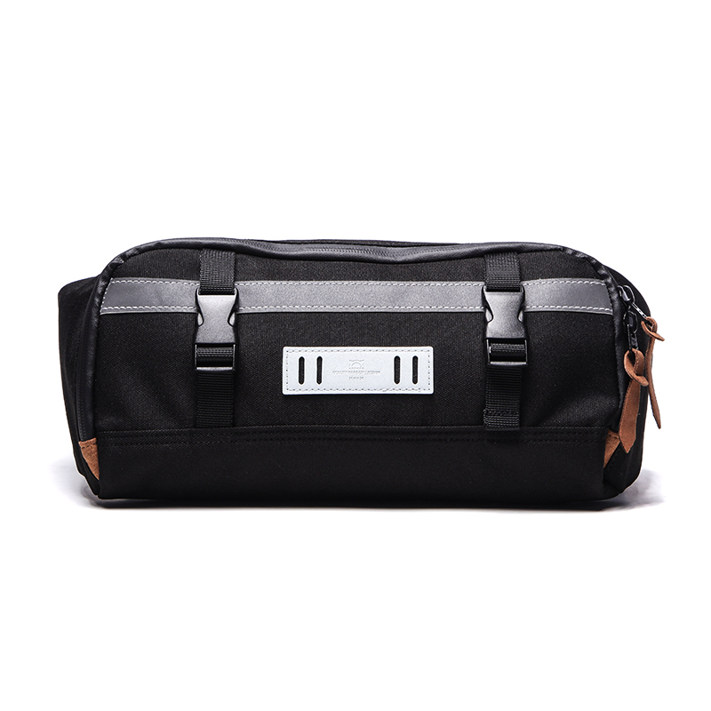 Across men shoulder bag multi-function running bag (Black) (Black)