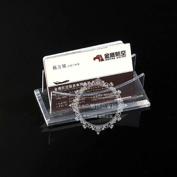 Acrylic crystal card case