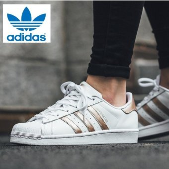 Harga Adidas Originals Superstar BA8169 White/Rose Gold - intl