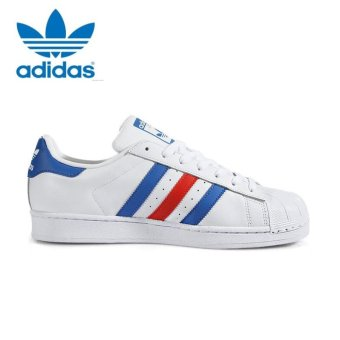 Adidas Originals Superstar Casual Shoes BB2246 White/Blue/Red -intl - 2