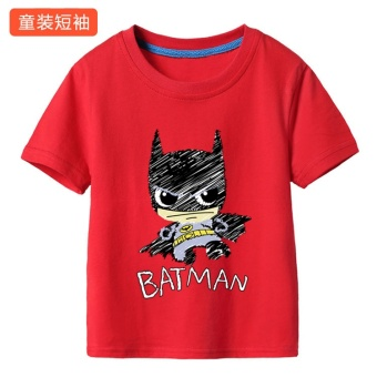 Amazing cotton spider man return of the children's short sleeved t-shirt (Red batman) (Red batman)