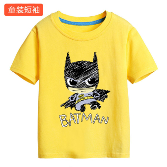 Amazing cotton spider man return of the children's short sleeved t-shirt (Yellow batman) (Yellow batman)