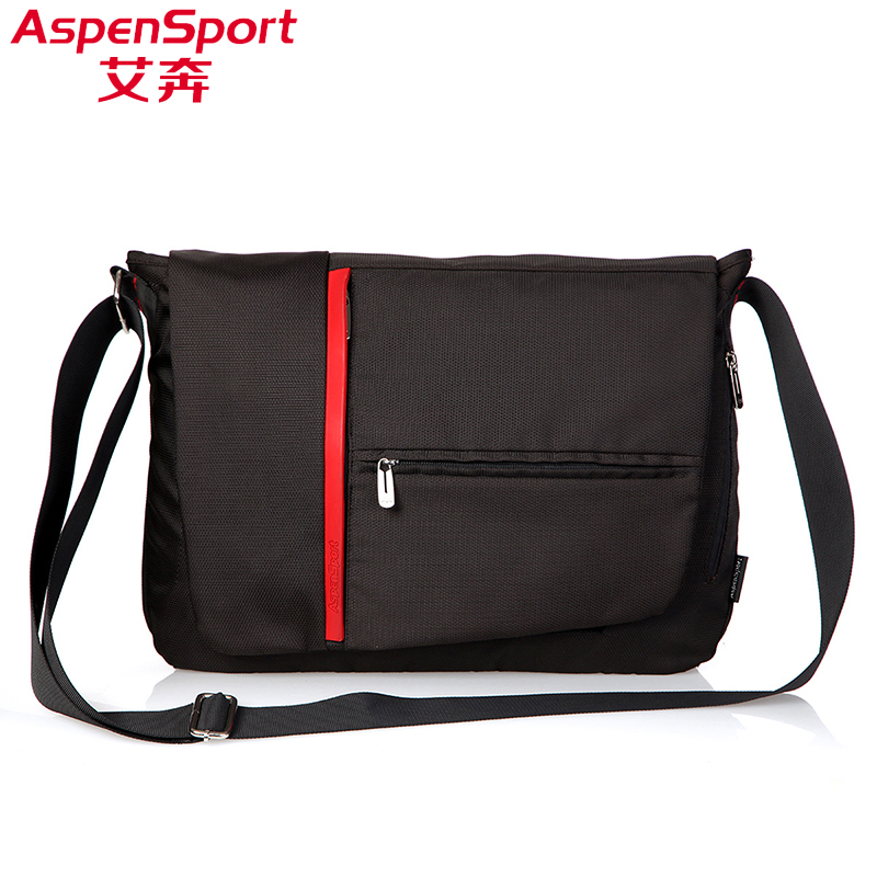 Aspen Sport shoulder bag diagonal bag messenger man bag casual shoulder big bag British tide bag school student bag iPad bag