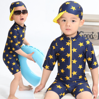 Baby boy's split swimsuit children's swimsuit (Star swimsuit) (Star swimsuit)