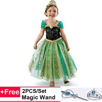 Harga Baby Girls Costumes Frozen Elsa Princess Cosplay Queen Party Dress- intl