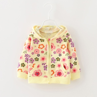 Baby New style girls thin coat (Yellow) (Yellow)