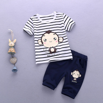Baobao New style boy's infants and children's clothing (Hip hop monkey)