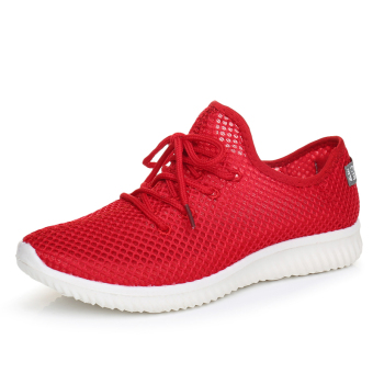 Breathable mesh summer mesh shoes (Red)