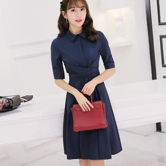 Caidaifei Korean-style solid spring and summer New style dress