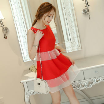 Caidaifei Korean-style solid spring and summer New style female dress