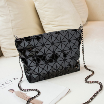 Celebrity inspired laser bag New style women's bag (Black)