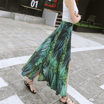 Cents us chiffon word umbrella skirt high-waisted half-length skirt