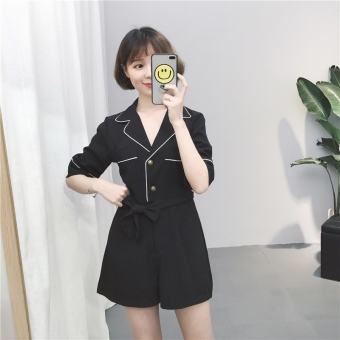 Chic Korean-style New style loose Slimming effect shorts (Black)