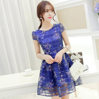 Color Diana New style Slim fit Slimming effect organza dress