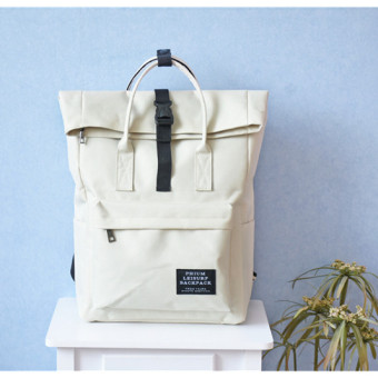 Couple's Korean-style male high school student school bag backpack (White color (spot goods))